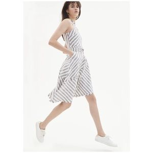 Banana Republic • tweed stripe asymmetric dress